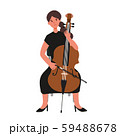 チェロを弾く女性のベクターイラスト 59488678