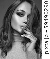 Beautiful young woman with makeup. sensual 59490290