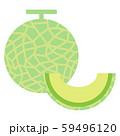 メロンイラストセット(まるごと、カット) 59496120