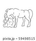 Magic unicorn linear vector illustration. Thin flat line art design to make unicorn party poster 59498515
