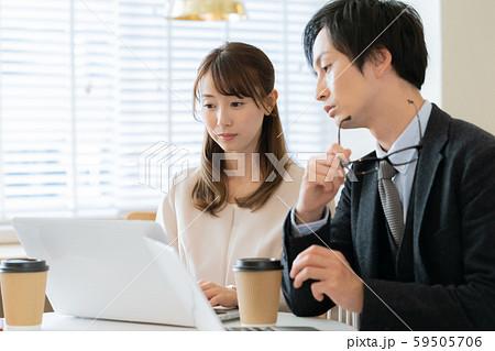 ビジネス 打合せ 男女 59505706