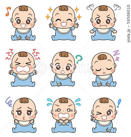 赤ちゃん イラスト かわいい セット 59506010