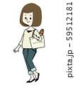 エコバッグで買い物をする女性 59512181