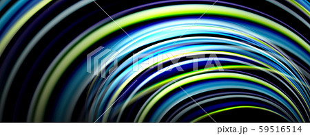 Fluid color waves with light effects, vector abstract background 59516514