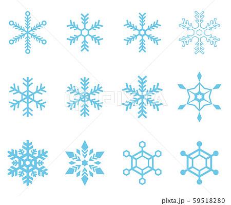 雪の結晶アイコンセット  59518280