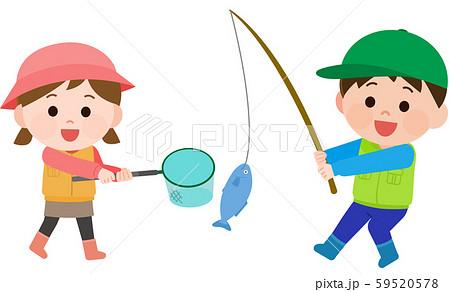 魚釣り ゲーム イラスト