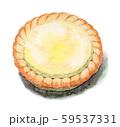 水彩で描いたチーズタルト 59537331