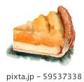 水彩で描いたアップルパイ 59537338