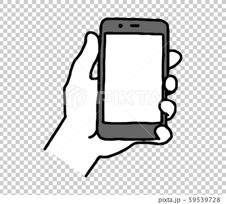 手拿著智能手機(簡單) 59539728