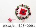クリスマスリース レッドギフトボックス イルミネーション 59540001