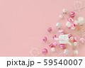 クリスマス ピンクの背景 59540007