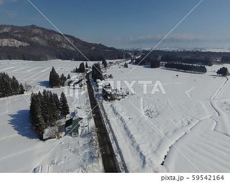 秋田県大仙市 中仙地域の冬の空撮 59542164
