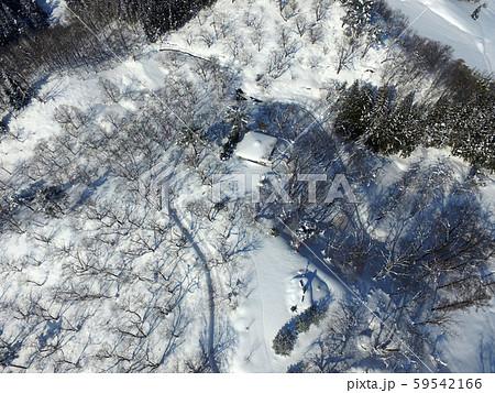 秋田県大仙市 中仙地域の冬の空撮 八乙女公園 59542166