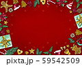 Christmas background by using materials paint with watercolor to design,and have space to put your text.Concept Christmasday and a happy New Year. 59542509