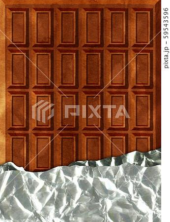 チョコレート 背景素材 59543596
