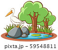 Isolated picture of stork in the park 59548811