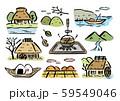 田舎筆画カラー 59549046