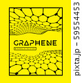 Graphene, a molecular network of hexagons connected together. Chemical network. Carbon 59554453