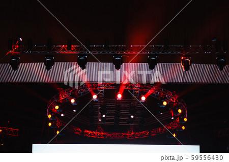lighting equipment on concert stage. 59556430