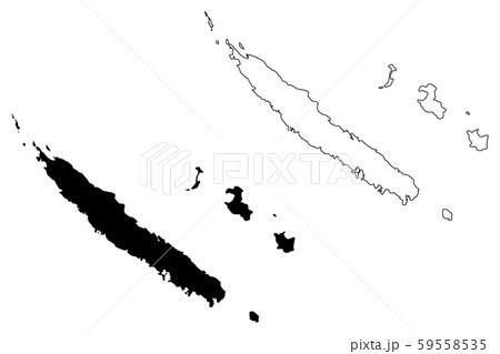 New Caledonia map vector 59558535