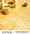 Christmas composition with golden decoration 59558947