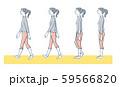 正しい歩き方 女性 59566820