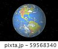 地球(アメリカ大陸,南米)星なし 59568340