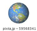 地球(アメリカ大陸,南米)白バック 59568341