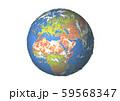 地球(ヨーロッパ,中東,アフリカ)白バック 59568347