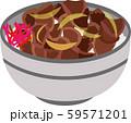 牛丼 イラスト 59571201