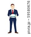 ラグビーボールを持つビジネスマン 59580676