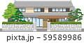 塀付和風家屋31縁取りあり 59589986
