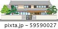 塀付和風家屋24縁取りあり 59590027