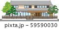 塀付和風家屋23縁取りあり 59590030