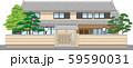 塀付和風家屋21縁取りあり 59590031