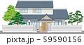 塀付和風家屋14縁取りあり 59590156
