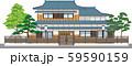 塀付和風家屋11縁取りあり 59590159