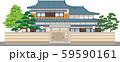 塀付和風家屋9縁取りあり 59590161