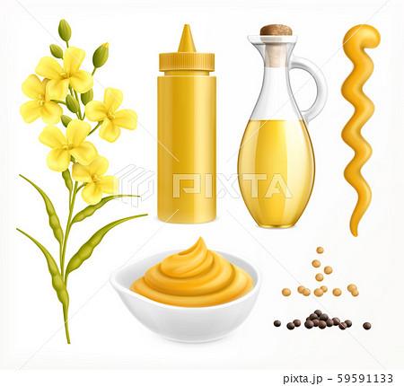 Realistic Mustard Set 59591133