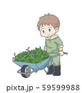 一輪車を押す男性のイラスト 59599988