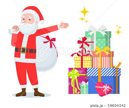 flat type Santa Claus_present 59604342
