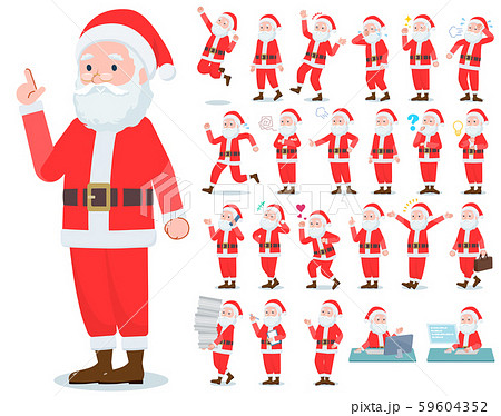 flat type Santa Claus_emotion 59604352