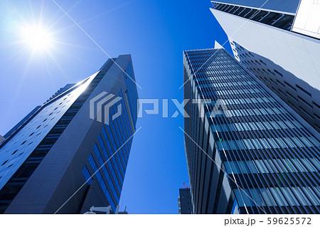 名古屋市中村区名駅4丁目 高層ビル群と光芒 シンフォニー豊田ビル 名古屋クロスコートタワー 59625572