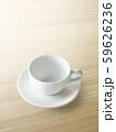 空のコーヒーカップ 59626236