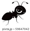 蟻 キャラクター ベクター イラスト 59647042