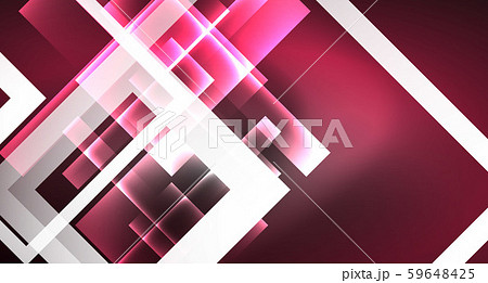 Neon shiny color squares on black, modern template 59648425