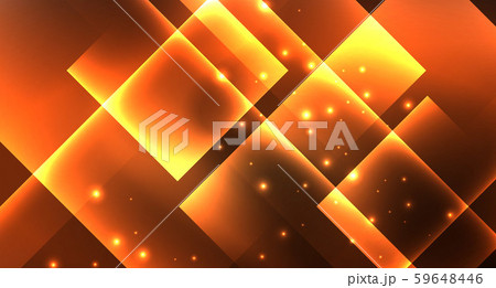 Shiny neon design square shape abstract background. Retro vector abstract design banner template 59648446