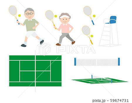 シニアテニスセット 59674731