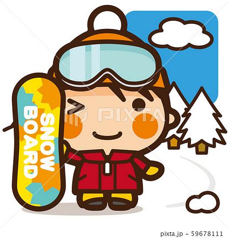 がっこうKids スノーボード女子 冬スポーツ 59678111
