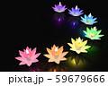 チャクラ色の蓮のキャンドル 59679666